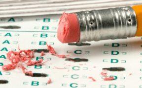 erasing test answers