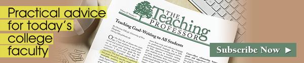 Teaching Professor newsletter