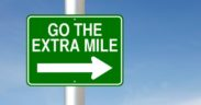 go the extra mile sign