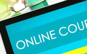 online courses computer screen