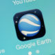 Google Earth icon on a smartphone screen
